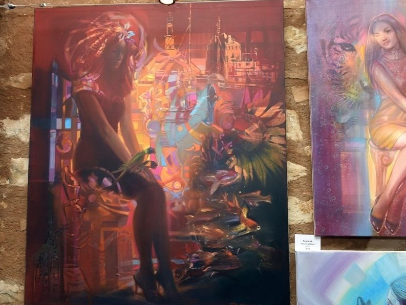 výstava obrazů Hampl